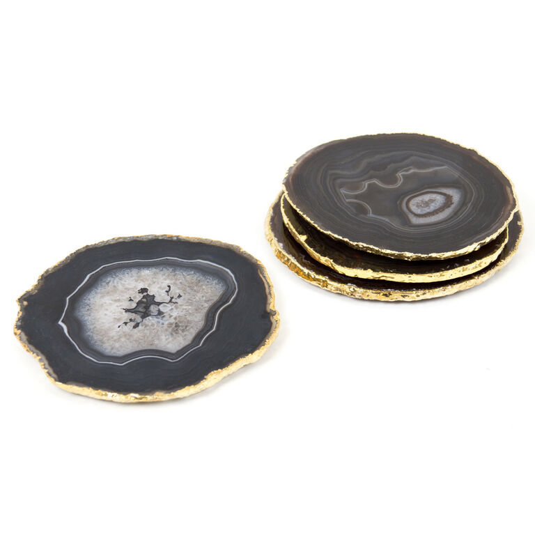Holding Category for Inventory - Brown and Gold Agate Coasters