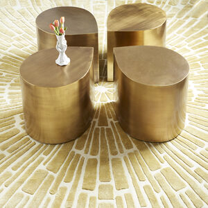 All Furniture - Brass Teardrop Table