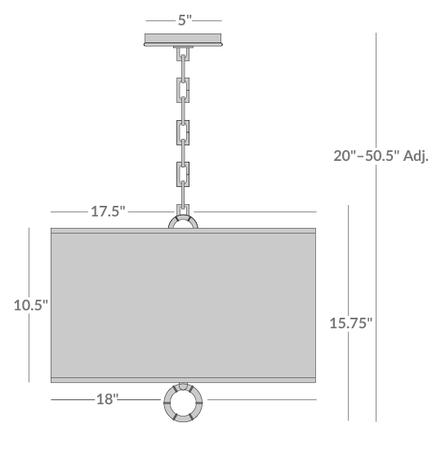 Small Meurice Pendant Light Isometric 1