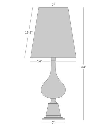 Claridge Genie Table Lamp Isometric 1