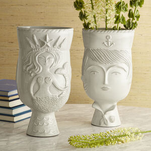 Vases - Utopia Reversible Sailor/Mermaid Vase