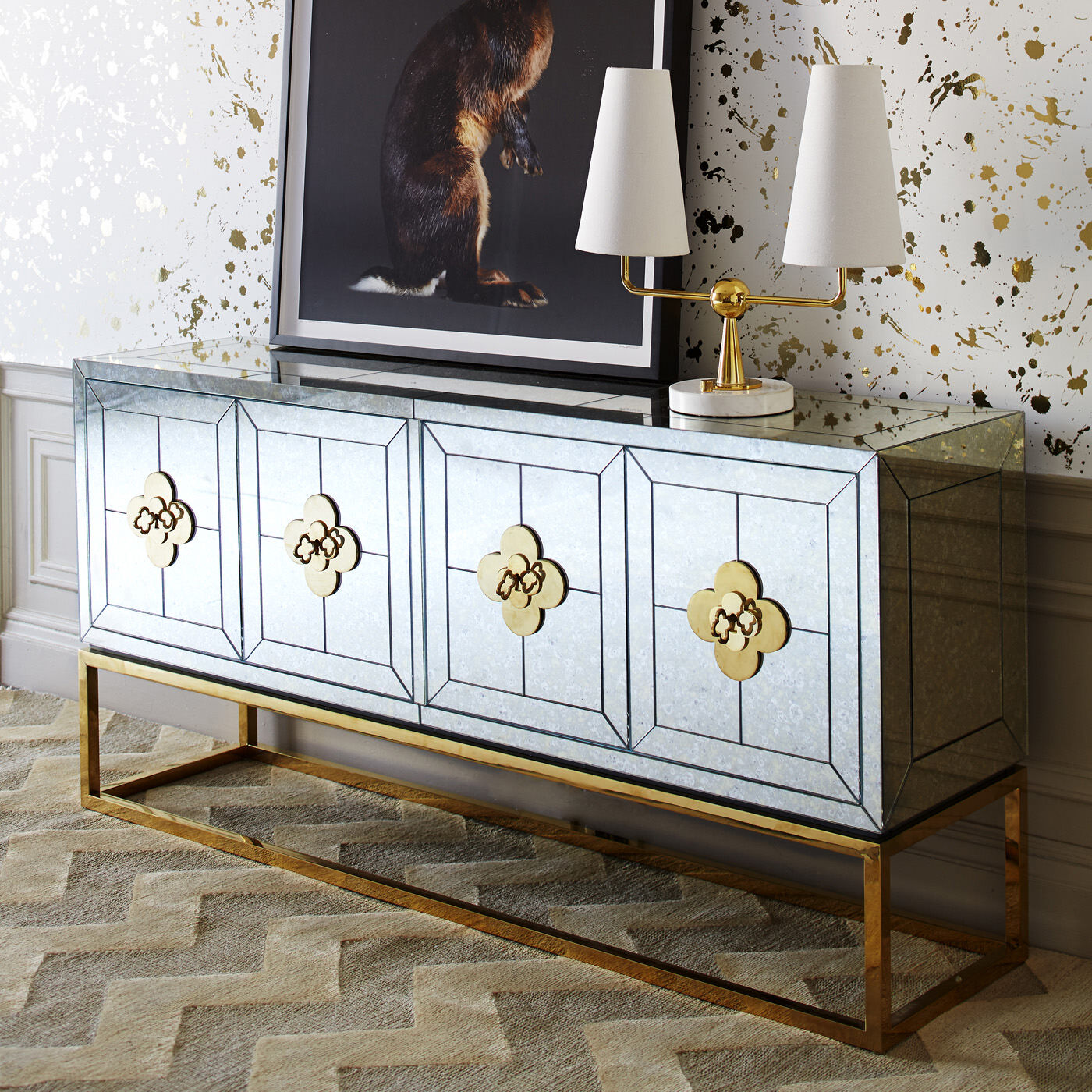 holding category for inventory delphine credenza - Modern Credenza