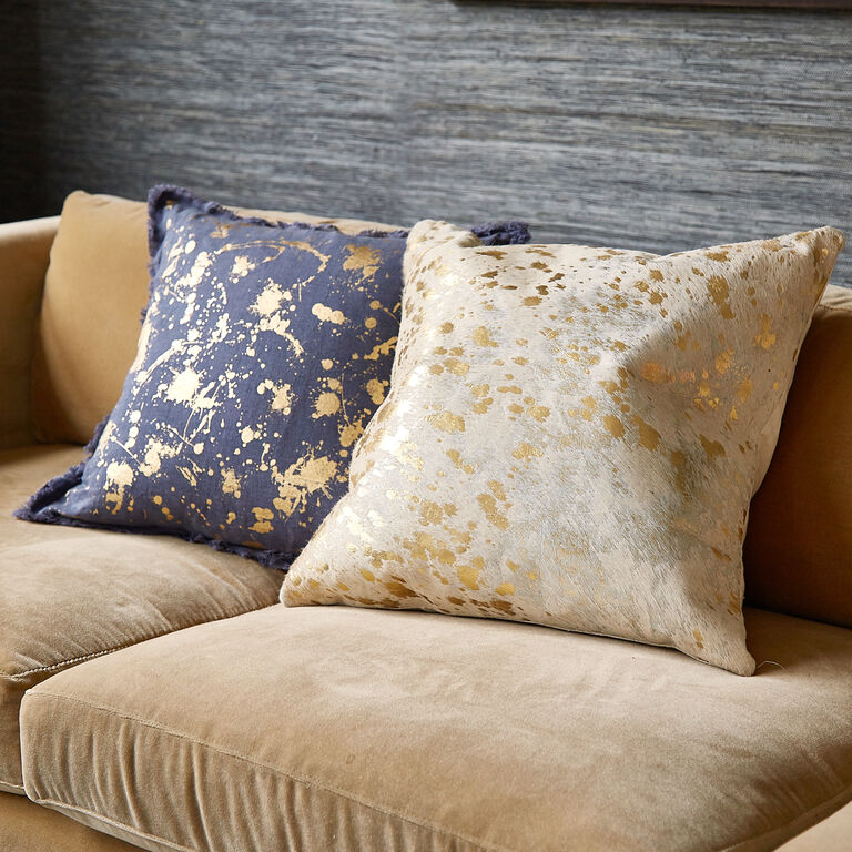 Throw Pillow Trends 2015 : Cowhide Metallic Throw Pillow Throw Pillows Jonathan Adler