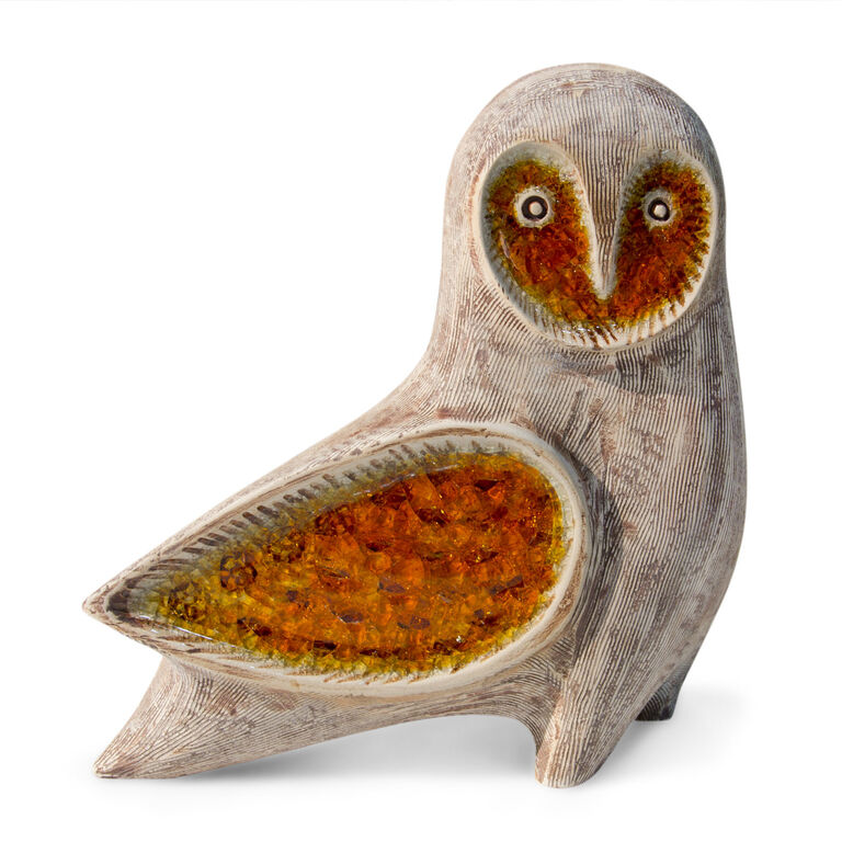 Decorative Objects - Glass Menagerie Barn Owl