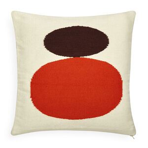 Patterned - Reversible Orange/Chocolate Mother/Child Pop Throw Pillow