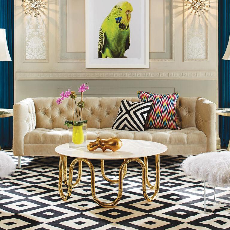 Bel Air Scoop White Vase | Modern Decor | Jonathan Adler