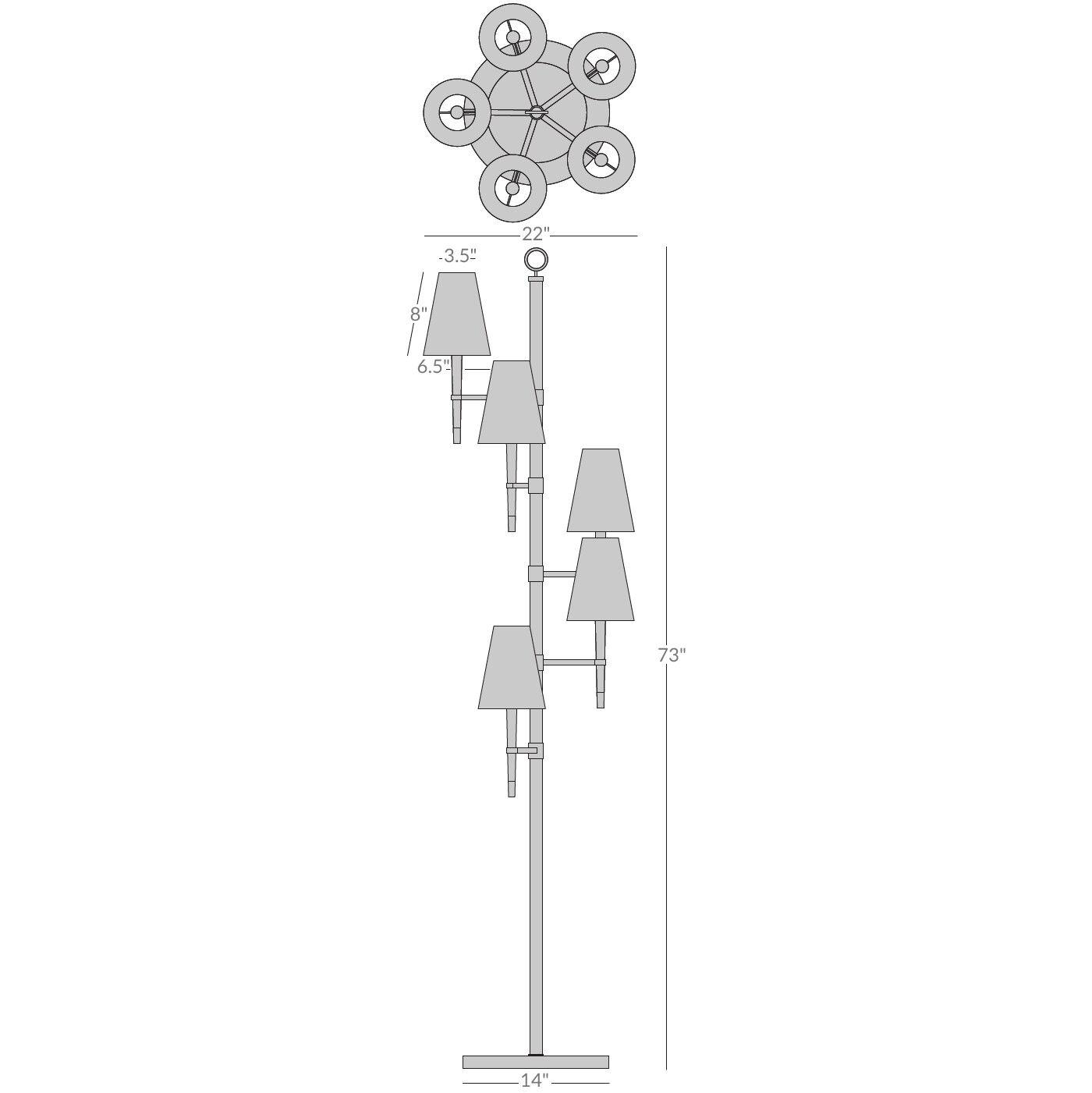 Ventana Ivory Spiral Floor Lamp | Modern Floor Lamps | Jonathan Adler