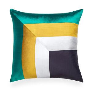 Bedroom Essentials - Emerald Siam Borders Throw Pillow
