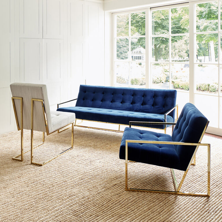 Goldfinger apartment sofa modern furniture jonathan adler for Free greene and greene furniture plans