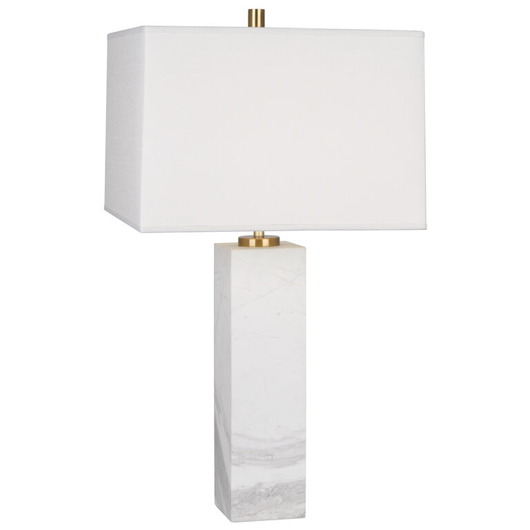 Tall Canaan Marble White Shade Table Lamp